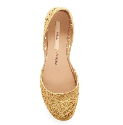 Casual Style PVC Clothing Glitter Flats