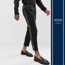 ASOS Tapered Pants Flower Patterns Blended Fabrics Tapered Pants