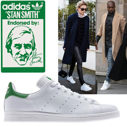 the latest f4d0e b67a4 adidas STAN SMITH 2019 SS Round Toe Rubber Sole Lace-up Casual Style Street  Style (B24105)