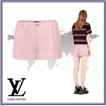 Louis Vuitton Short Silk Plain Elegant Style Shorts