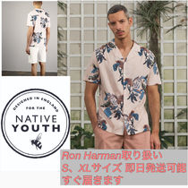Ron Herman Tropical Patterns Cotton Short Sleeves Shirts