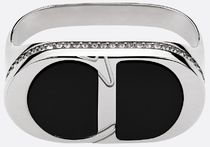 Christian Dior Blended Fabrics Street Style Silver Rings