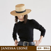 Janessa Leone Straw Boaters Straw Hats
