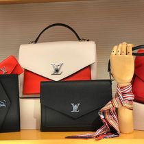 Louis Vuitton MY LOCKME  Calfskin Blended Fabrics 2WAY Bi-color Plain Elegant Style
