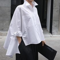 Street Style Plain Cotton Medium Office Style Gowns