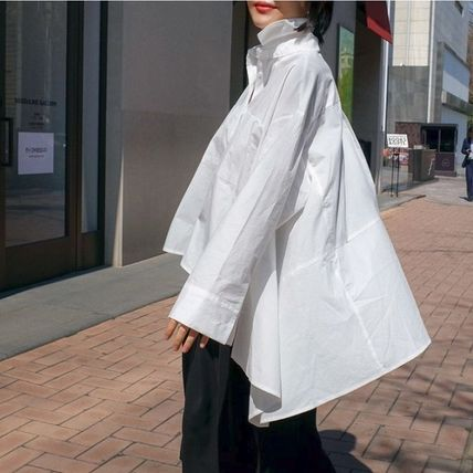 Shirts & Blouses Street Style Plain Cotton Medium Office Style Gowns 9