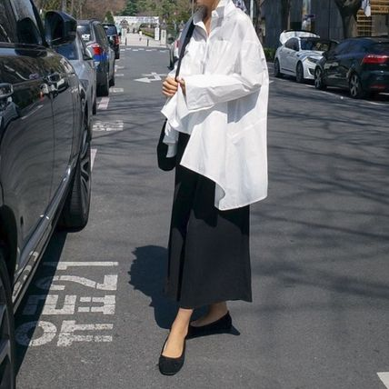 Shirts & Blouses Street Style Plain Cotton Medium Office Style Gowns 16