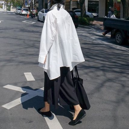 Shirts & Blouses Street Style Plain Cotton Medium Office Style Gowns 18