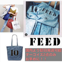 FEED Casual Style Unisex A4 2WAY Totes