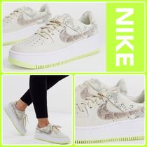 Nike AIR FORCE 1 Camouflage Platform Plain Toe Casual Style Street Style