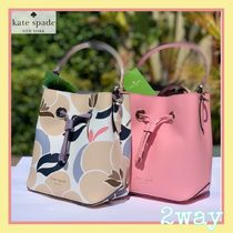 kate spade new york Flower Patterns Tassel 2WAY Leather Purses Shoulder Bags