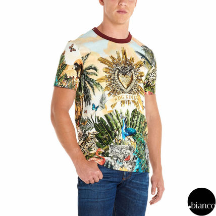 Dolce & Gabbana Crew Neck Crew Neck Tropical Patterns Street Style Cotton 2
