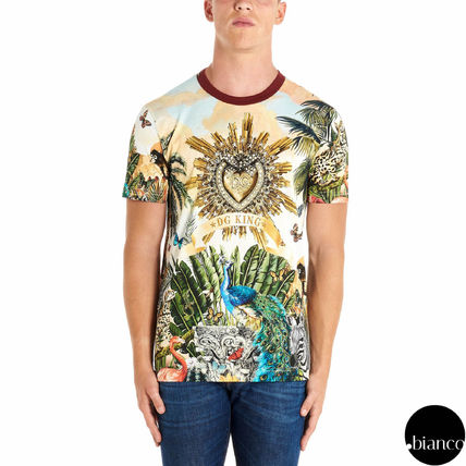 Dolce & Gabbana Crew Neck Crew Neck Tropical Patterns Street Style Cotton 3