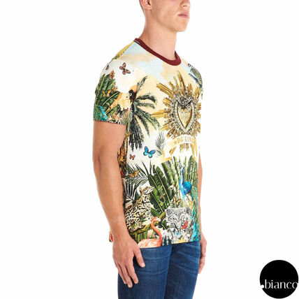 Dolce & Gabbana Crew Neck Crew Neck Tropical Patterns Street Style Cotton 4
