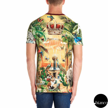 Dolce & Gabbana Crew Neck Crew Neck Tropical Patterns Street Style Cotton 5