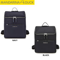 mandarinaduck Nylon Studded Street Style A4 Plain Office Style Backpacks