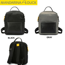 mandarinaduck Casual Style Nylon Studded Street Style Plain Backpacks