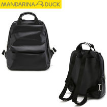 mandarinaduck Casual Style Nylon Studded Street Style A4 Plain Backpacks