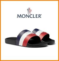 MONCLER Stripes Shower Shoes Shower Sandals