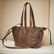 BRUNELLO CUCINELLI Casual Style Plain Leather Totes