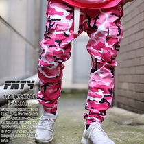 Printed Pants Camouflage Unisex Street Style Cotton Pants
