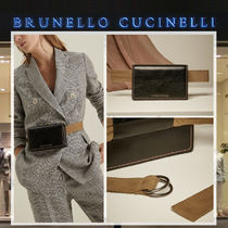 BRUNELLO CUCINELLI Casual Style Plain Leather Hip Packs