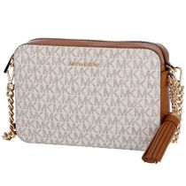 Michael Kors GINNY Casual Style PVC Clothing Shoulder Bags