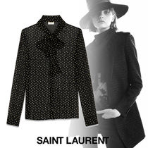 Saint Laurent Star Casual Style Silk Long Sleeves Medium Shirts & Blouses