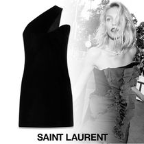 Saint Laurent Short Tight Plain Dresses