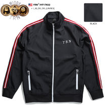 YOUNG RICH NATION Unisex Nylon Street Style Oversized Track Jackets
