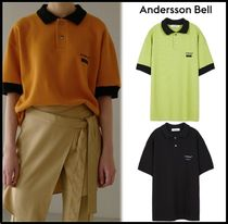 ANDERSSON BELL Casual Style Unisex Street Style Polo Shirts