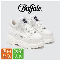 Buffalo LONDON Rubber Sole Lace-up Casual Style Plain Low-Top Sneakers