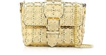 RED VALENTINO Flower Patterns Studded 2WAY Chain Plain Leather