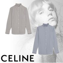 CELINE Stripes Casual Style Long Sleeves Cotton Shirts & Blouses