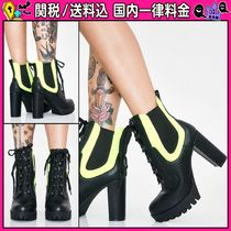DOLLS KILL Casual Style Chunky Heels High Heel Boots