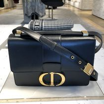 Christian Dior Calfskin Plain Shoulder Bags
