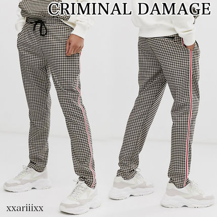 CRIMINAL DAMAGE Zigzag Blended Fabrics Street Style Co-ord