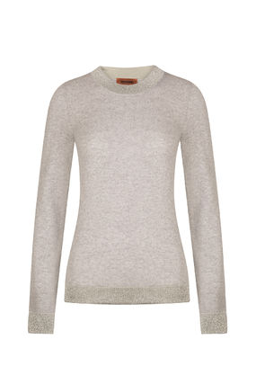 Crew Neck Cashmere Long Sleeves Formal Style  Cashmere