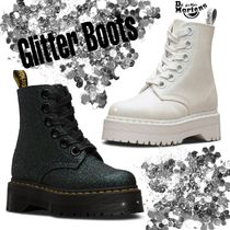Dr Martens MOLLY Platform Lace-up Casual Style Unisex Street Style