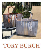 Tory Burch Stripes Casual Style Canvas A4 Totes