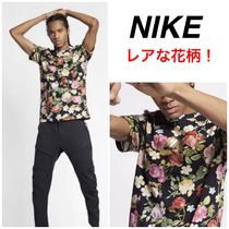 Nike Flower Patterns Street Style Cotton Short Sleeves T-Shirts
