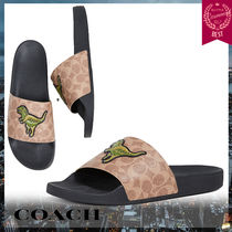 Coach Monogram Other Animal Patterns Shower Shoes Shower Sandals