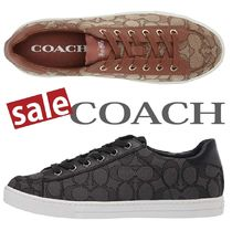Coach Round Toe Plain Low-Top Sneakers