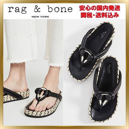 Open Toe Rubber Sole Plain Leather Elegant Style