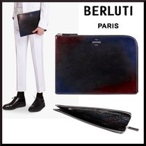 Berluti Nylon Plain Clutches