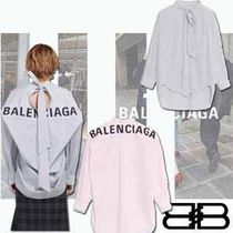 BALENCIAGA Stripes Casual Style Street Style Long Sleeves Cotton Medium