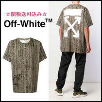 Off-White Crew Neck Pullovers Camouflage Unisex Street Style Cotton