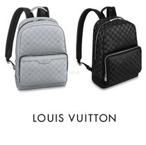 Louis Vuitton DAMIER INFINI Other Check Patterns A4 Leather Backpacks
