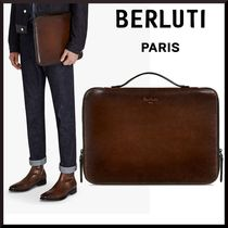 Berluti Plain Leather Clutches