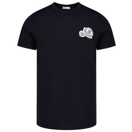 MONCLER Crew Neck Crew Neck Plain Cotton Short Sleeves Crew Neck T-Shirts 2